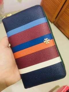 Tory Burch Kerrington center stripe wallet original