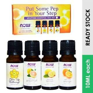 Uplifting Essential Oil Kit, Put Some Pep in Your Step, Now Foods (10ml each)