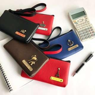 [Perfect Gift] ✈ Wristlet Wallet Pouch Pencil Case Personalised Customised Holder School Purse Pen