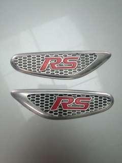 RS fender emblem