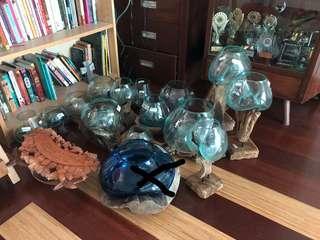 Bali glass bowls/Vase