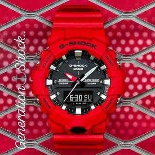 DEADPOOL🌟THEME : 1-YEAR OFFICIAL WARRANTY : ORIGINALLY AUTHENTIC G-SHOCK RESISTANT Designed by Official MUDMASTER COMPANY in RED / BLACK STEALTH MATT with WORLD🌎TIME  Best For Most Rough Users & Unisex : GA-800-4ADR / GA800 / GA-800-4A / GSHOCK WATCH