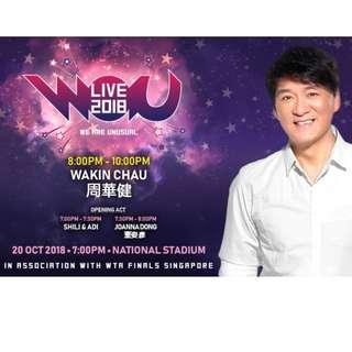 【Row1 @$238】WAU LIVE 2018  周华健 董姿彦  ShiLi & Adi