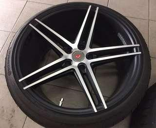 19 Vossen Rim with continental made in Slovakia