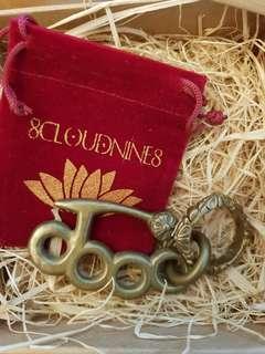 Solid Brass Knuckle Biker Keychain