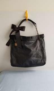 Lanvin Amilia black lambskin tote 黑色軟羊仔皮手袋