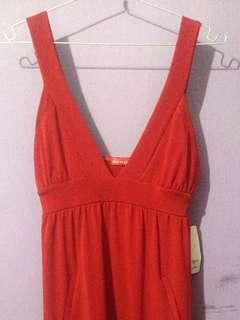 Dress Hot Red - Dress Merah