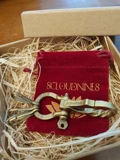 Handmade Solid Brass Carabina Biker Keychain