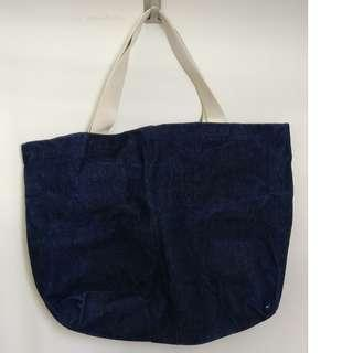 Denim canvas shoulder bag 牛仔布袋