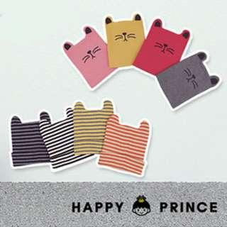 🚚 🌟INSTOCK🌟 Korean Style Stripe Kitty Knitted Winter Beanie Hat for Keeping Newborn Baby Toddler Boys and Girls Head Warm Kids Hair Accessories