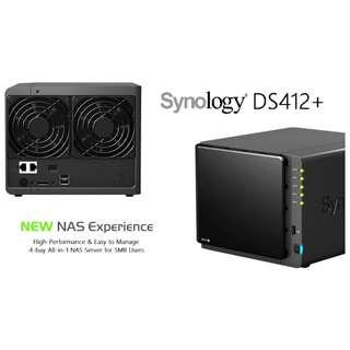 * SYNOLOGY DS 412+ NAS  | 4 Bay Network Attached Storage