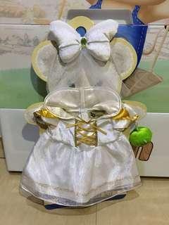 Disney Unibearsity 大學熊白色公主裙 S size