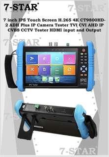 All-In-One CCTV Tester-7 inch IPS Touch Screen H.265 4K CT9800HD-2 ADH Plus IP Camera Tester TVI CVI AHD IP CVBS CCTV Tester with HDMI input and Output