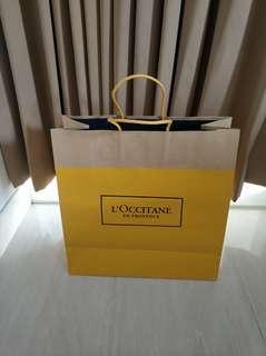 Loccitane paper bag