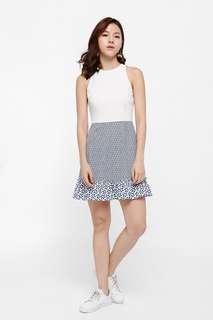 Love Bonito Elsif Mosaic Print Ruffle Hem Dress