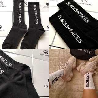 "INSTOCKS Black FW18 ""Places + Faces"" Socks"