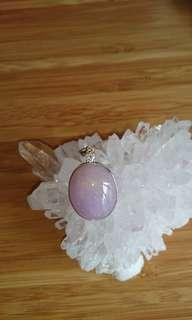 18k real purple jade with diamond pendant/18k 紫玉鑲鑽吊咀
