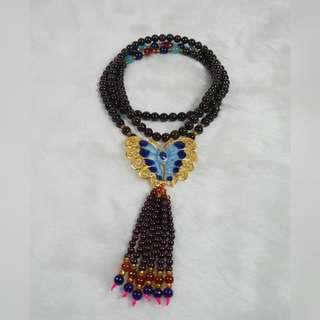 【免運費】石榴石蝴蝶長款項鍊 適用神尊裝飾上