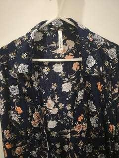 Women's floral wrap top shirt