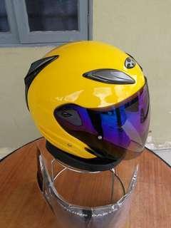Helmet OGK Kabuto Avand Yellow Kuning diraja saiz L