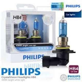 Philips HB4 or 9006 Halogen Light Bulb 4300K LTA Approved Bulb for Sale! CHEAP AND INSTALLATION AVAILABLE
