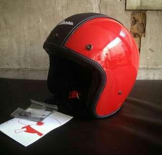 Helm vespa ori italy red