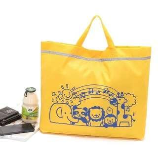 日本 卡通 黃色 折疊購物袋大號環保袋尼龍 手提袋