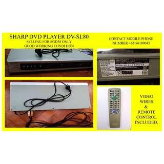 SHARP DVD PLAYER DV-SL80 SGD38 ONLY (PRICE DROP)