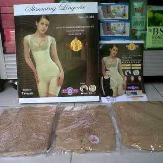 Jual Murah Baju Pembakar Lemak Tubuh Natasha Slimming Suit Double Alat Pelangsing Tubuh
