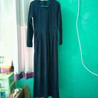 Cullote Pants / Navy Blue Culotte Jumpsuit / Jumpsuit Cullote / Jumpsuit Panjang / Celana Kulot / Jumpsuit Kulot Panjang
