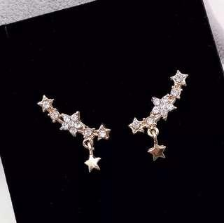 Korean drop star earrings