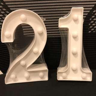 Alphabet Light Display 21