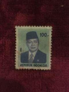 Stamp presiden 1 soeharto tahun 1986