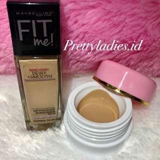MAYBELLINE FIT Me! Dewy + Smooth Foundation Share in jar