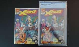 """X- Force #1 & #1 CBCS 8.0 (1991 1ST Series) Set Of 2- 1st Appearance Of X-Force! Key-Book! """"One To Read & One To Keep"""" Series"""
