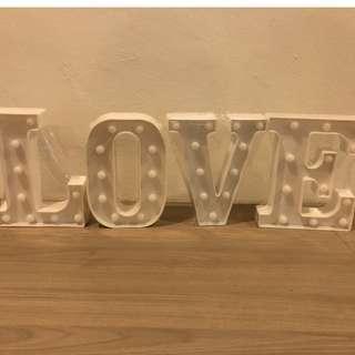 Alphabet Light Display LOVE