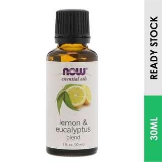 Lemon & Eucalyptus Essential Oil Blend, Now Foods (30 ml)