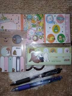 [B-3] We Bare Bears Bookmarks + Sticky Notes Book + Pulpen Pipo