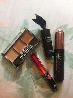 4pcs - Makeup Concealer Lipstick Liptint Mascara Mac Naked Huda