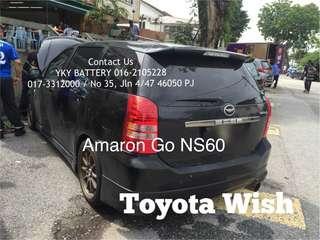 Kereta Bateri Toyota Wish , Amaron Go NS60