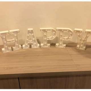 "Alphabet Light Display ""HAPPY BIRTRHDAY"""