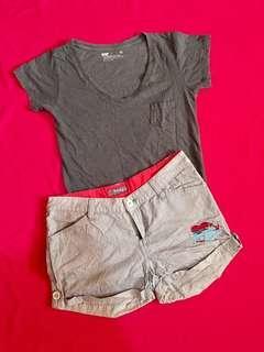 Bundle Bench V-Neck Shirt + Shorts