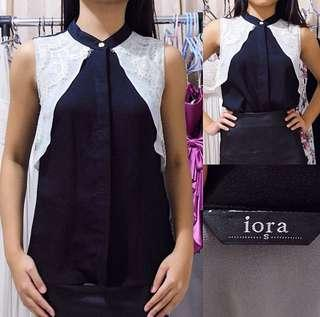 IORA Monochrome Lace Polyester Top