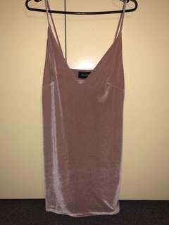 Velvet Mink Pink Dress- Small