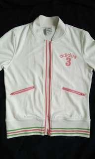 Adidas White Short-Sleeved Zip-Up Jacket