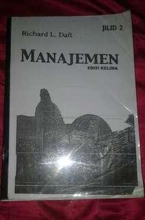 Buku Manajemen edisi ke-5 jilid 2 Ricard L Daft