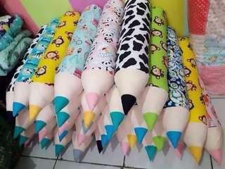 Bantal Guling Pensil Anak Kids Toddler Ready Motif Random