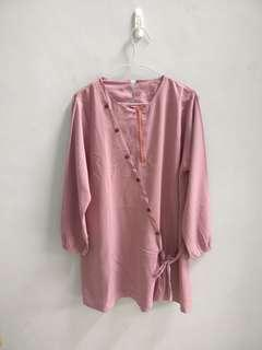 Tunik peach busui friendly