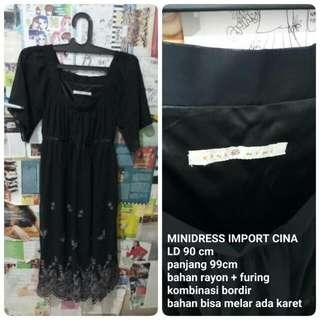 Minidress Black Import