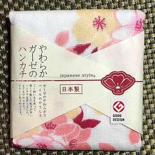 【日本帶回】大阪限定櫻花柔軟紗布手帕 手巾 手帕毛巾 紀念品 送禮推薦